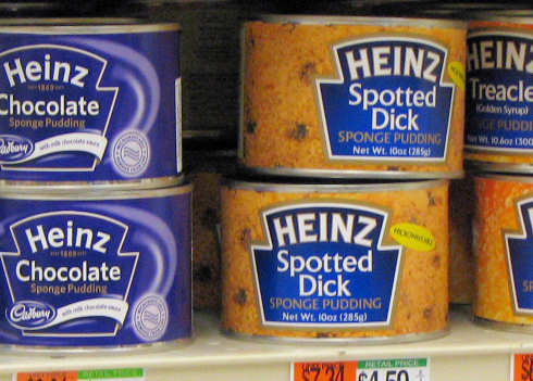 Fancy a bit of spotted dick, gov'nor?