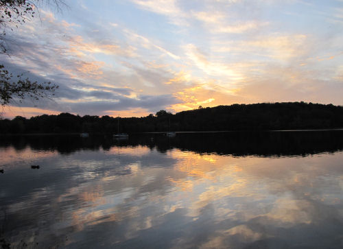 Jamaica Pond sunset