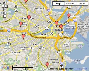 Universal Hub News Map