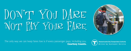 See what happens when you don't pay your fare?