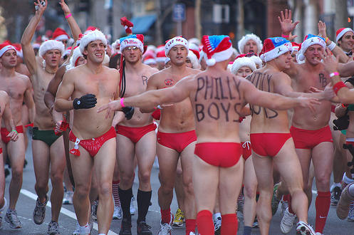 Santas in Speedos