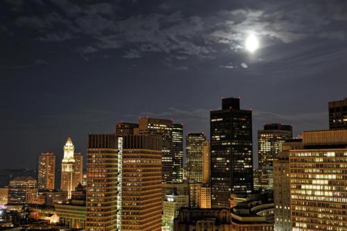 Nighttime in Boston