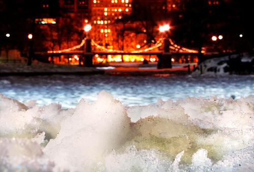 Bridge in ice