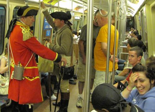 Redcoat on Orange Line