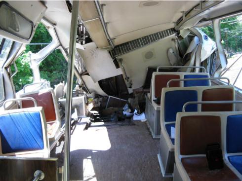 Smashed train