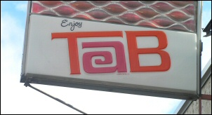 Steve Slyne's Tab sign