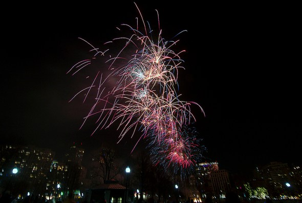 Fireworks over the Common