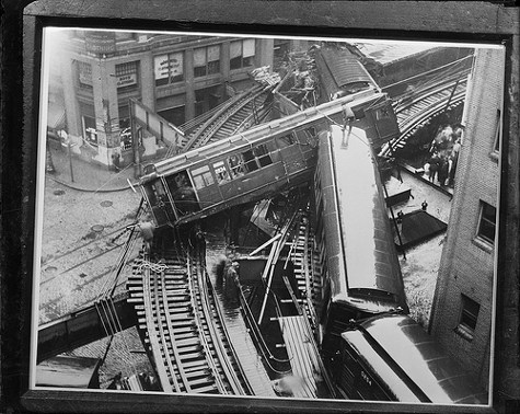 Boston El wreck