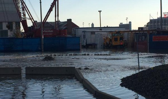 Water main break in South Boston