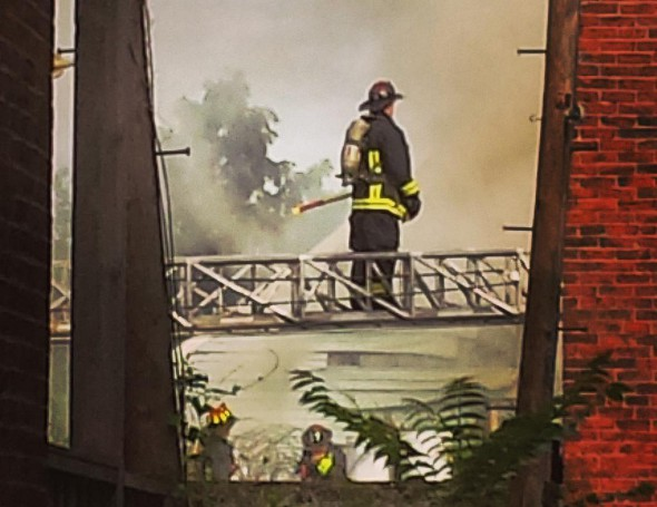 Firefighters in East Boston