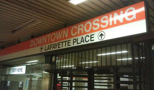 Lafayette Place sign