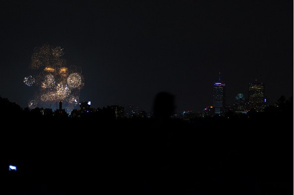 July Fourth fireworks in Boston