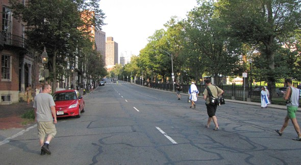 Protest: Beacon Street