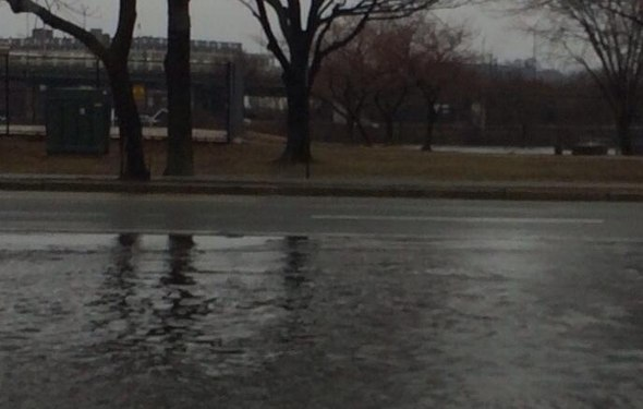 Memorial Drive flooded