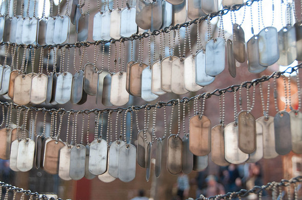 Dog tags in the North End