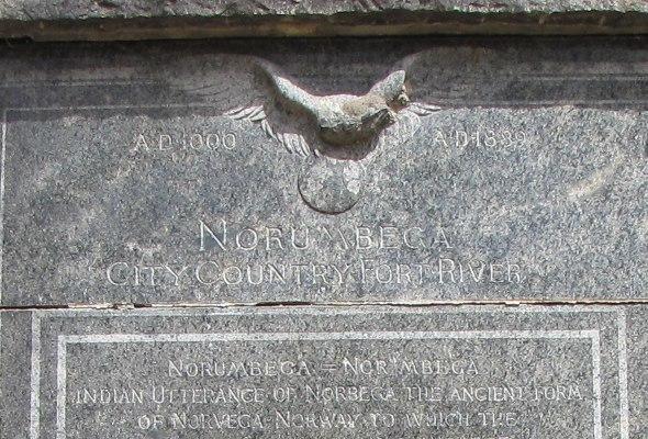 Norumbega plaque