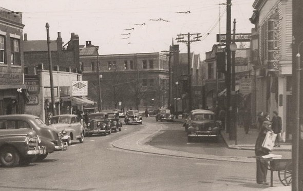 South Street in Roslindale in 1948