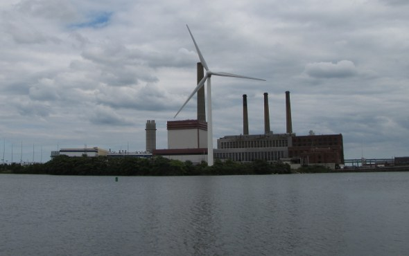 Mystic River power plant