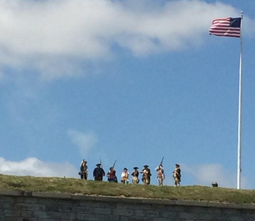Minutemen at Castle Island