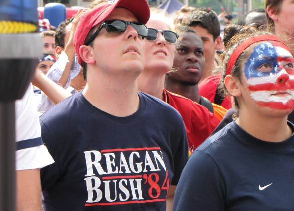 Fan with Reagan T-shirt