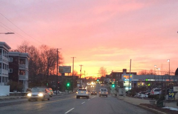 West Roxbury sunset