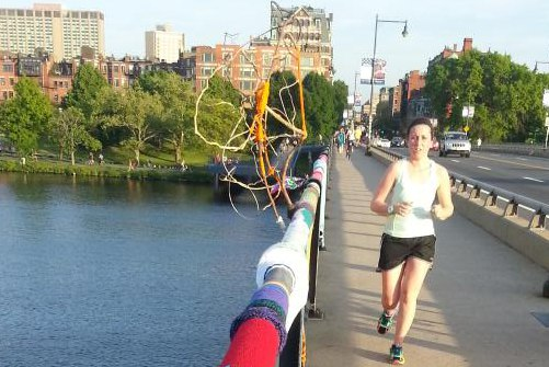 Yarn bombing over the river