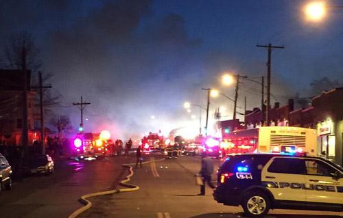 Belmont fire