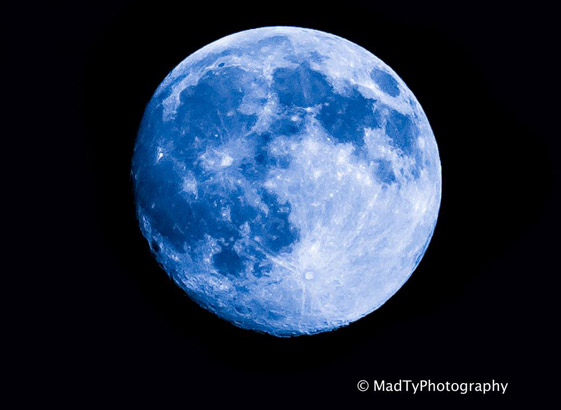 Blue Moon over Boston