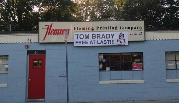 Fleming Printing Company loves Tom Brady
