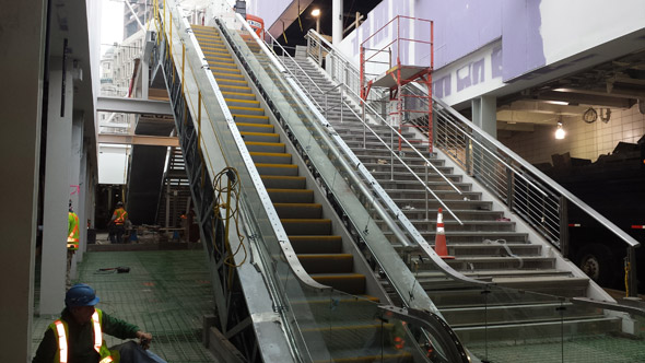 Escalators and stairs