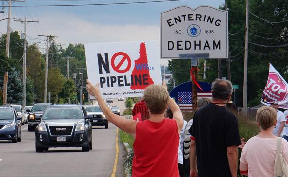 Pipeline protester
