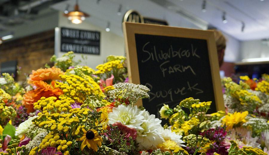 Boston Public Market flowers for sale