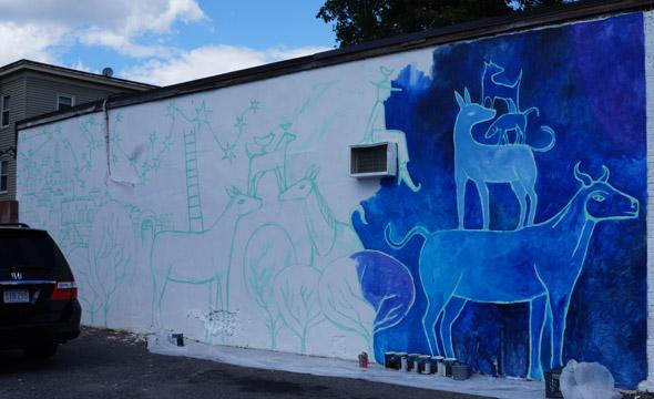 Mural on Washington Street in Roslindale