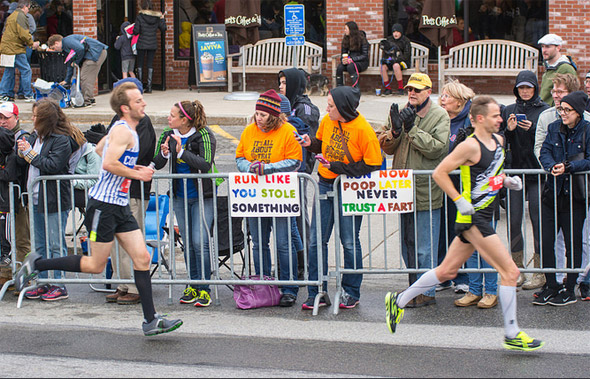 Boston Marathon in Wellesley