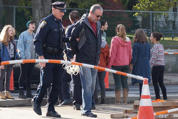 Arrests at Spectra site in West Roxbury