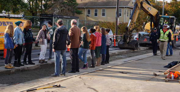 Protest at Spectra site in West Roxbury