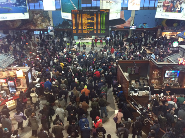 Crowded South Station