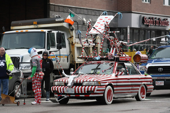 Weird car in the St. Patrick's Day parade