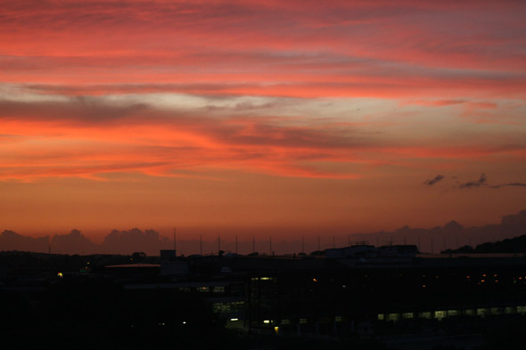 Sunset over Suffolk Downs