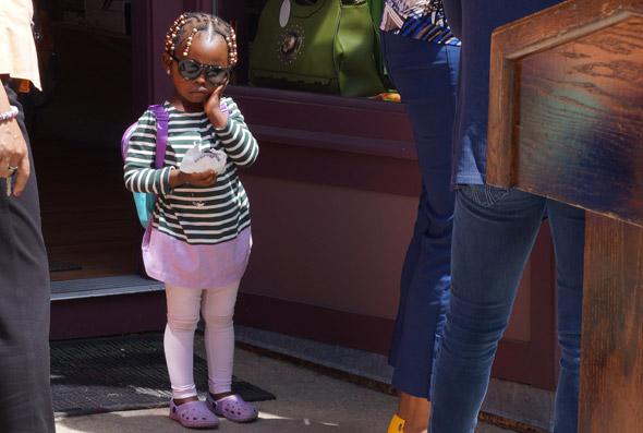 Girl outside the Vertullo Building