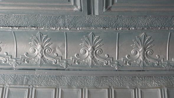 Tin tiles in the Vertullo Building