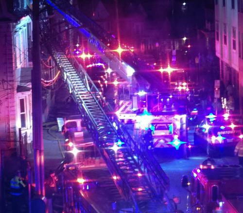 Creighton Street fire scene