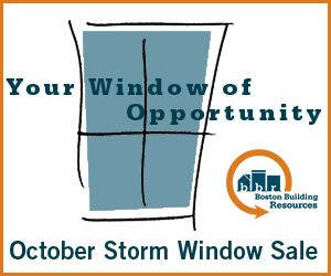 Your Window of  Opportunity: Get storm windows from Boston Building Resources
