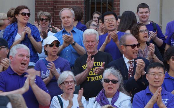 Boston Latin parents and alumni at rally
