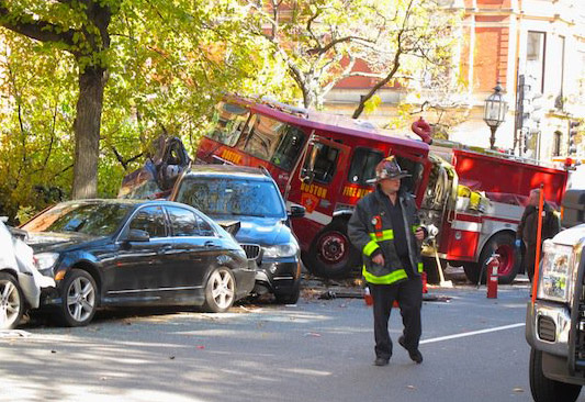 Firetruck in the Back Bay