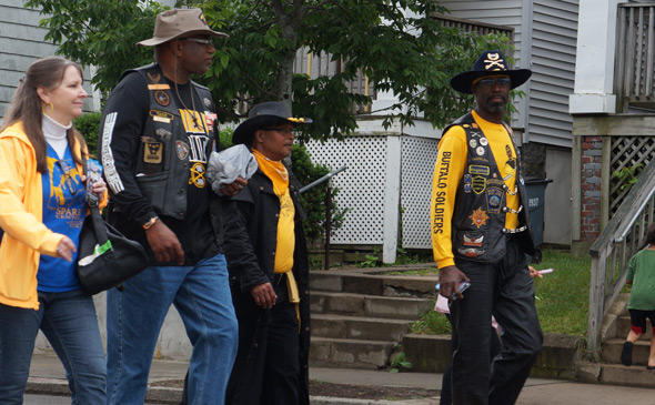 Buffalo Soldier in Dorchester Day parade