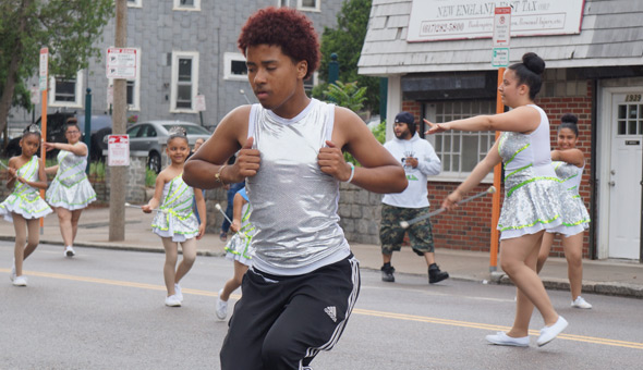 Dancers in Dorchester Day parade