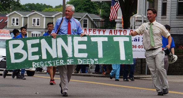 Doug Bennett in Dorchester Day parade