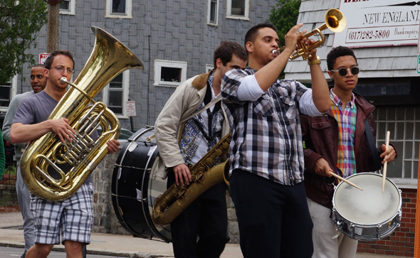 Musicians in Dorchester Day parade
