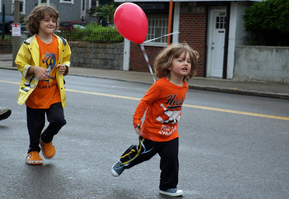Kids in Dorchester Day parade